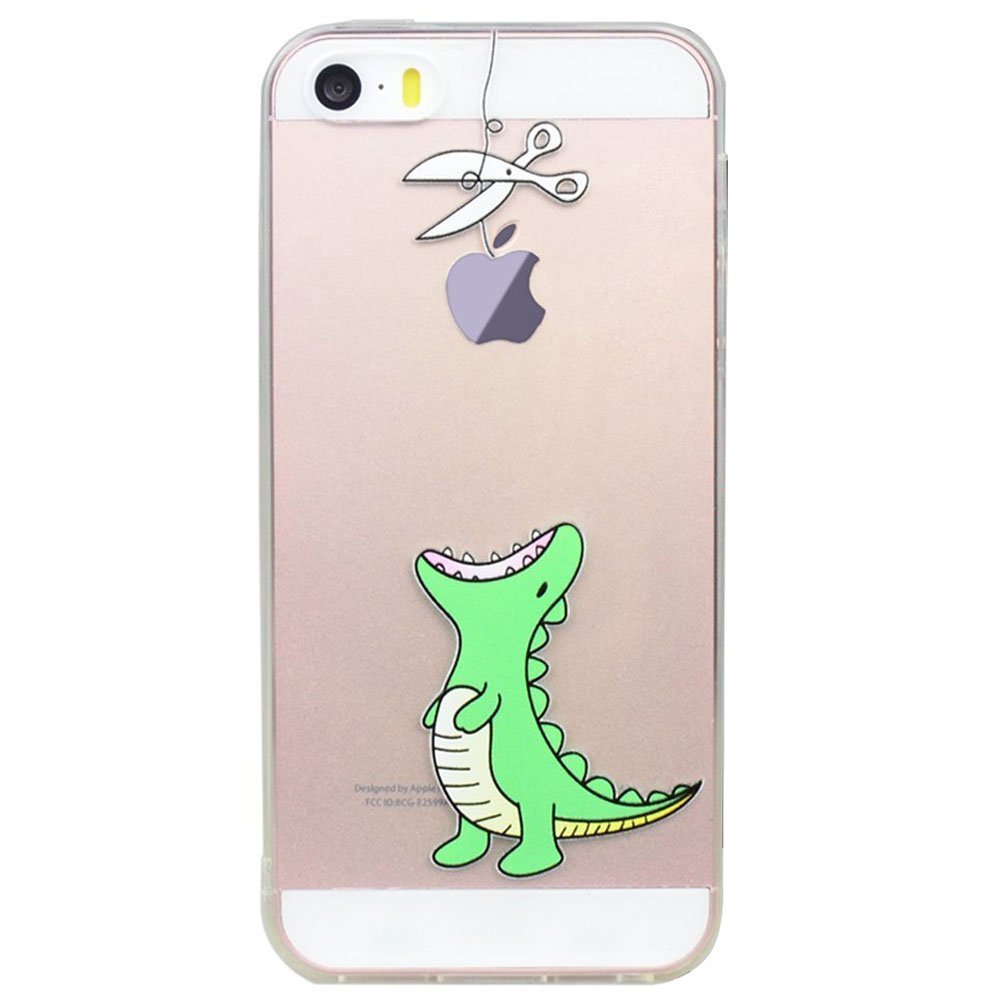innovative design 919d7 4bfc8 Buy Iphone 5 Case, Jaholan Mint Smile Love Clear Bumper TPU Soft ...