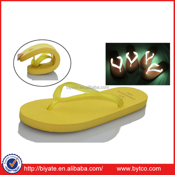 LED/VFD flip flop beach slipper