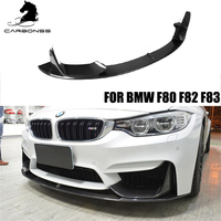 CARBON FIBER BODY KIT FOR BMW F80 F82 F83 M3 M4 M PERFORMANCE TYPE FRONT LIP SPOILER 2015