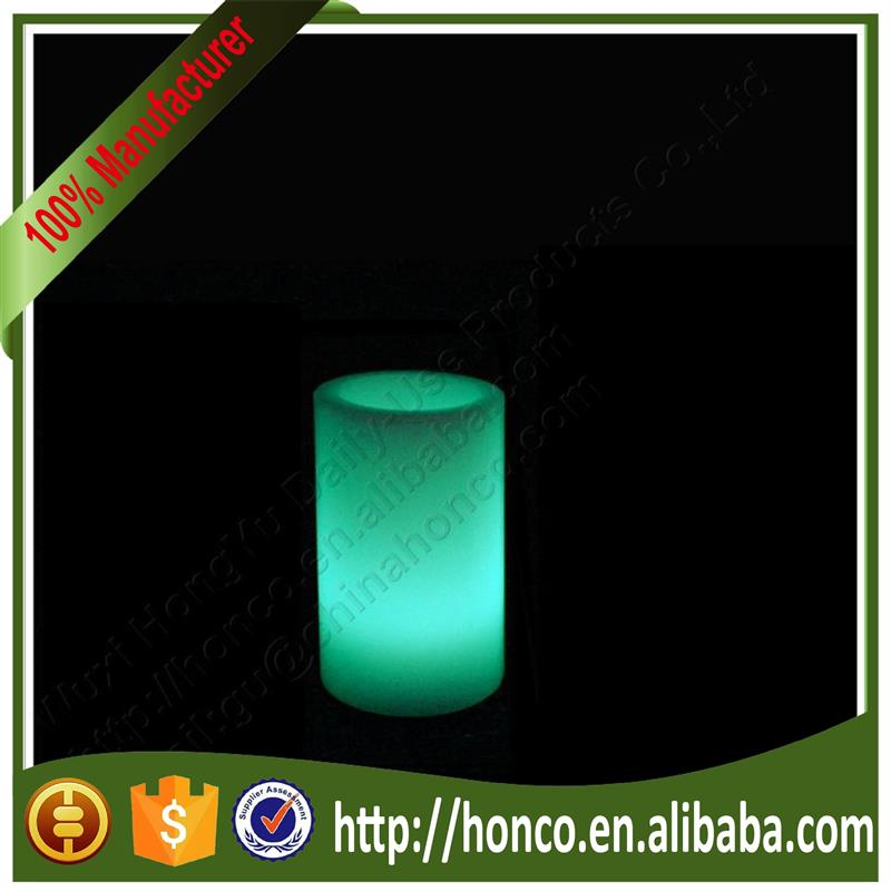 High Quality Wax Round Pillar Even Edge LED flameless Candle with various sizes