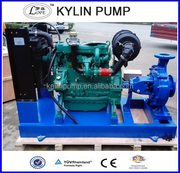 Chinese factory supply diesel engine driven dewatering pump