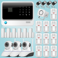 2018 New Wifi GSM GPRS Wireless Home Burglar Security Alarm System Integrated with HD IP Camera