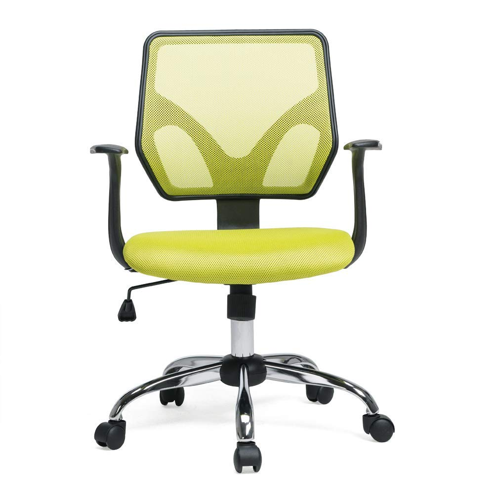 PTO Furniture Mesh Office Chair Task Chair Swivel Ergonomic Computer Desk Chair, Green