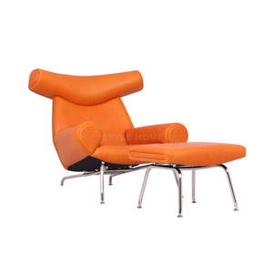 Ox Chair / Replica Danish Design Lounge / Italian Genuine Leather Chair