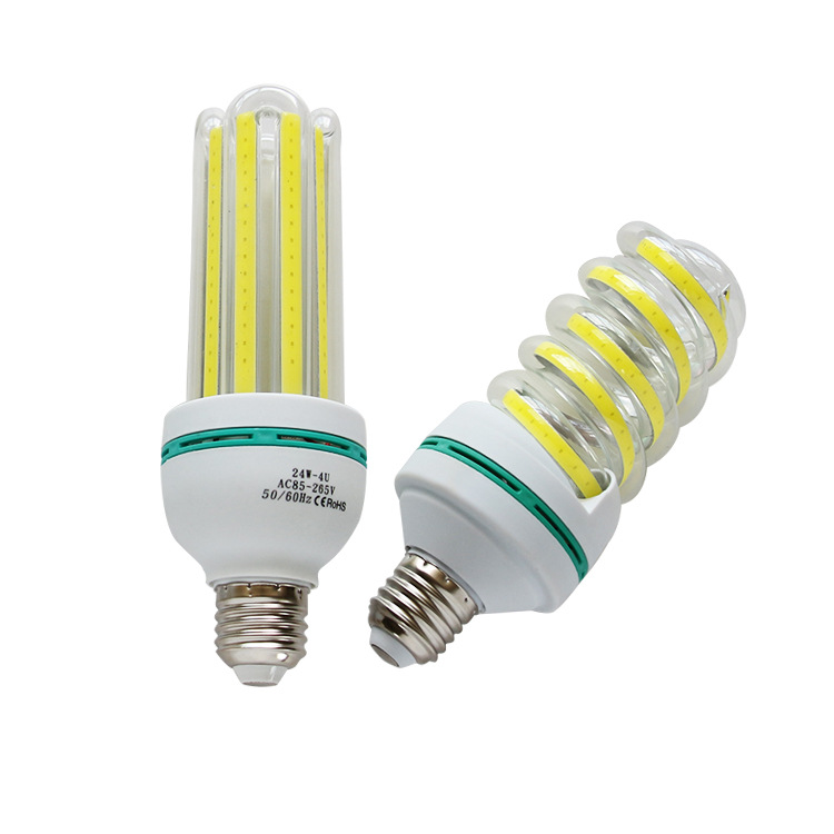 New items SMD2835 COB spirals style screw type E27 led corn light bulb for outdoor lighting