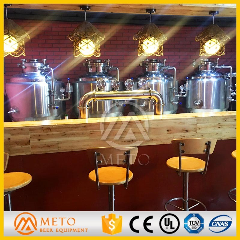 200l mini beer brewing equipment stainless steel pot on sale
