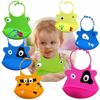Promotion Quality Waterproof Silicone Baby Bibs Cartoon Soft Infant Feeding Baby Kids Toddler Bibs