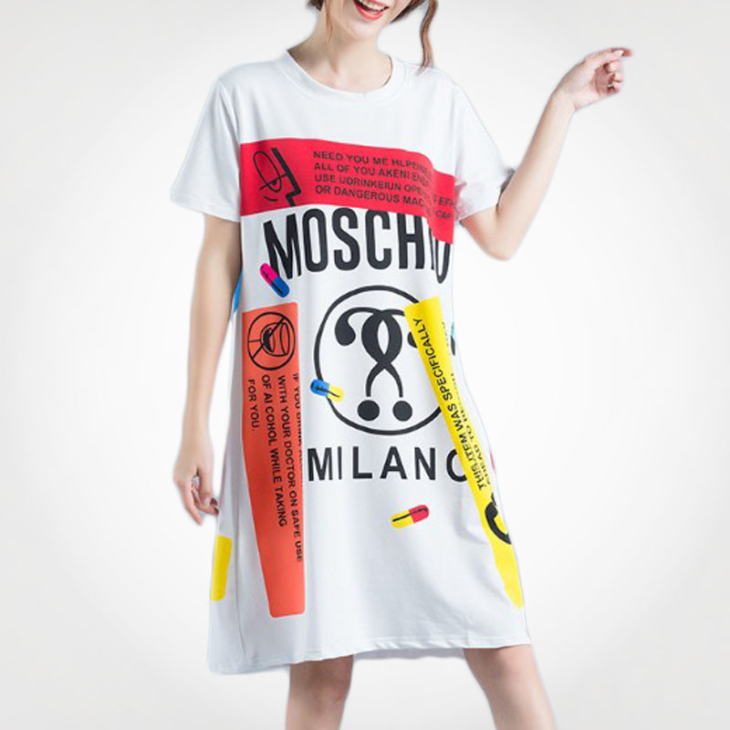 Eco-Friendly Autumn Fashion Clothing Woman T Shirt Dress For Party