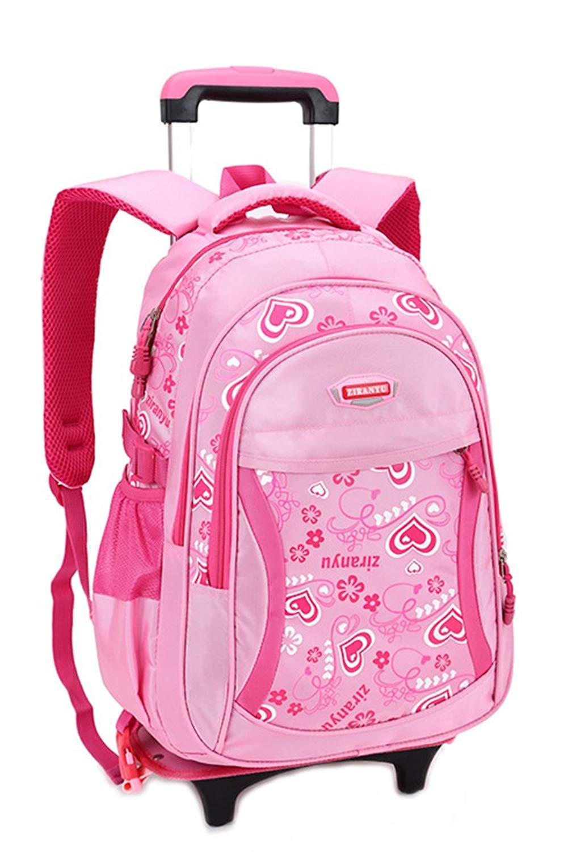 4116869af3 Kids Rolling Backpack Phaedra FU Cute School Backpack With Wheels For Girls