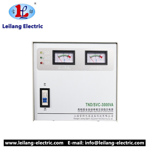 SVC TND full automatic ac voltage stabilizers 500va 1000va 1500va made in China with Ce And Iso9001 certificate