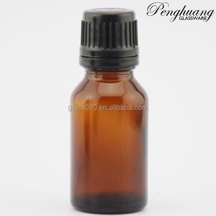 10ml amber essential oil glass bottle with black aluninum cap