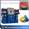 Debossed silicone wristband forming machine in Dongguan