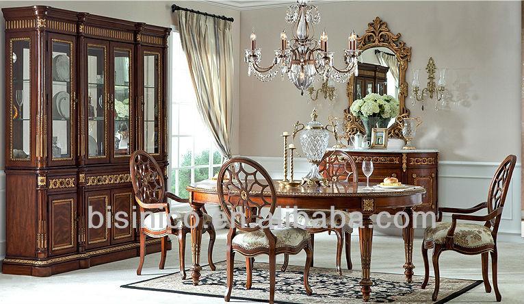 King Louis Style Gilt-bronze Formal Dining Room Set,Wood Carved ...
