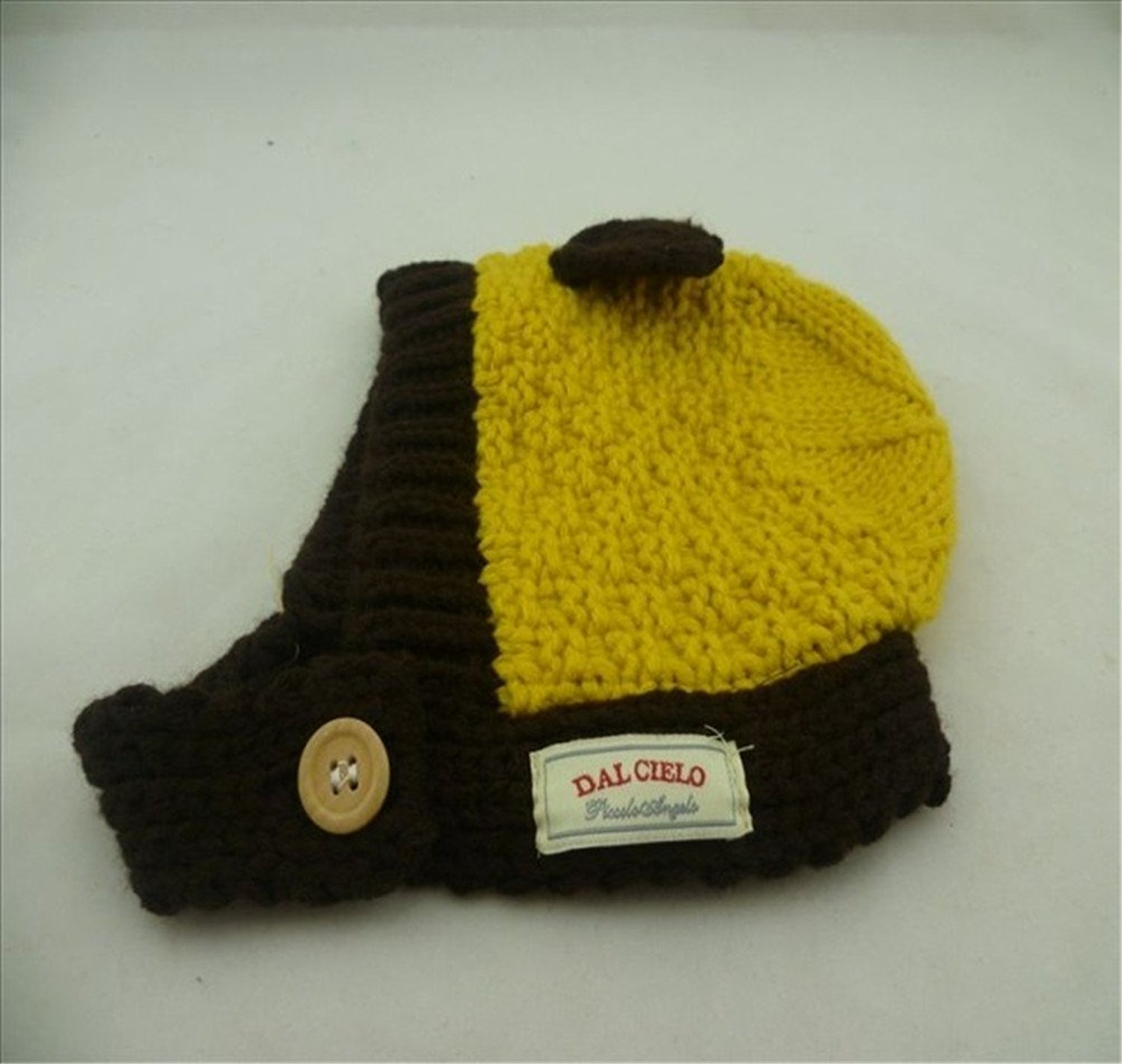 9e83dc4560b Get Quotations · Niwota Cute Little Ears Baby Infant Winter Warm Cap Hat  Beanie with One Free Baby Headband