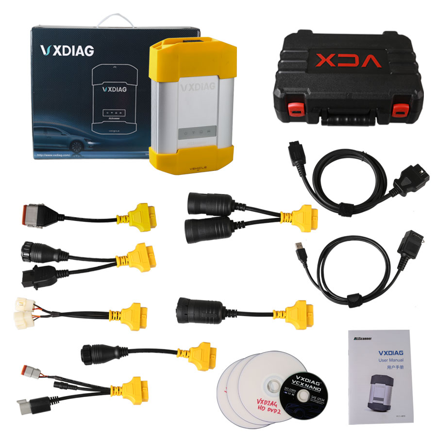 Allscanner Vxdiag Vcx Hd Heavy Duty Truck Diagnostic System For Cat/volvo/  Hino/cummins/nissan - Buy Truck Diagnostic,Heavy Duty Truck,Hd Heavy Duty