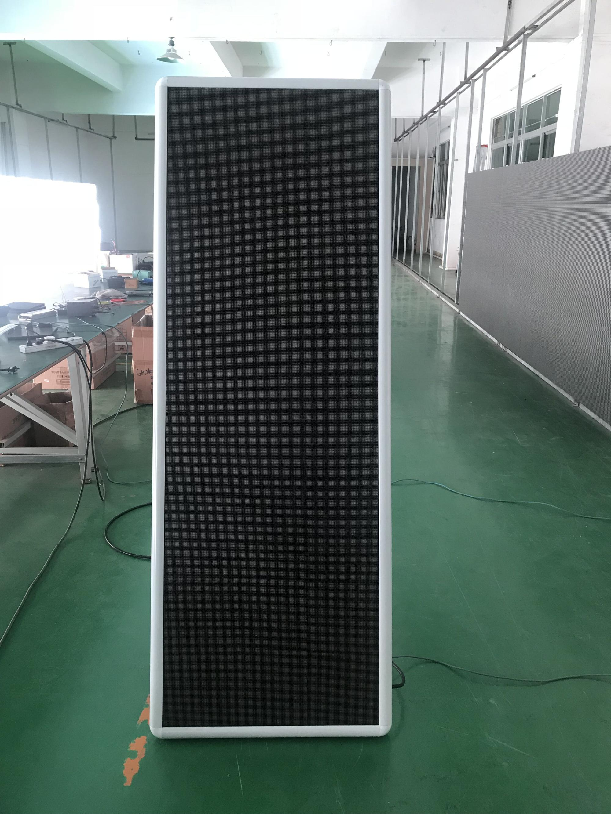 P2.5 full color poster led screen video banner 640x1920mm