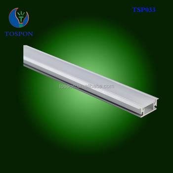 2017 Hot Flat Floor Led Strip Profile Aluminum Channel For With Strips