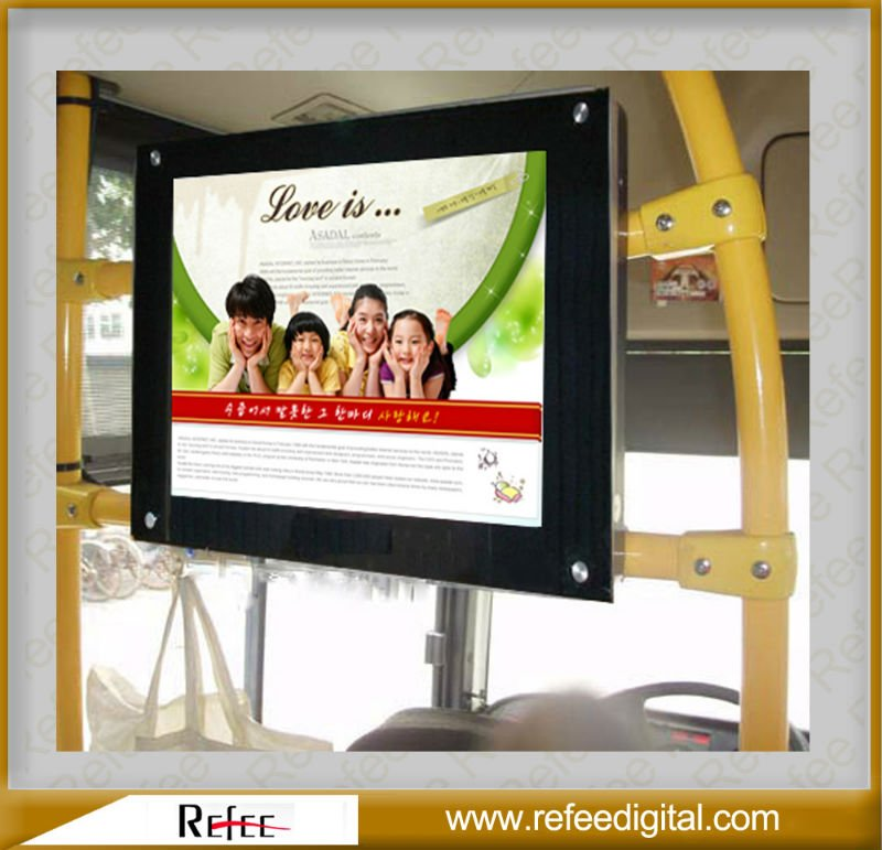 15 17 19 22 inch bus vehicle lcd advertise player