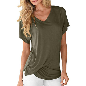 China Factory Green Soft Womens Blouses 2018 Fancy Ladies Tops Latest Design