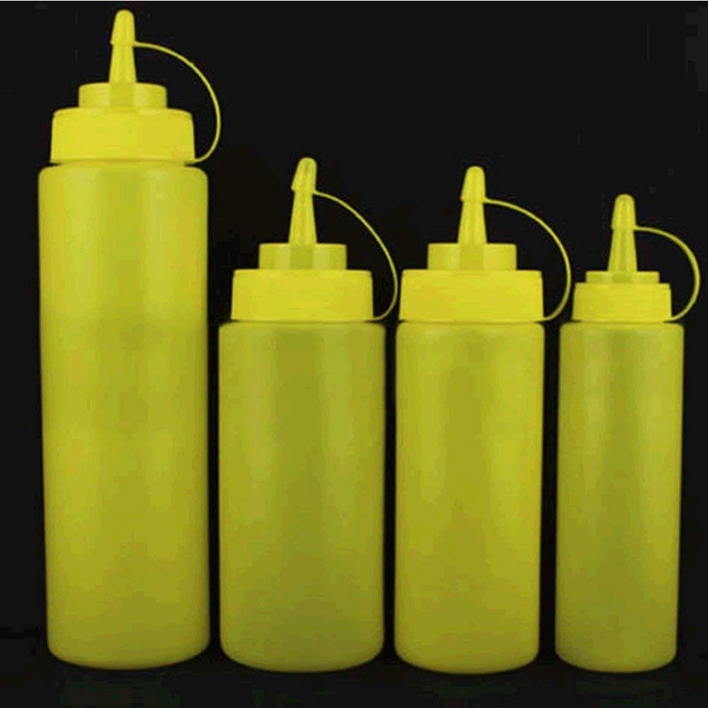 1e8743c2 Get Quotations · NUANNUAN 8-24oz Plastic Squeeze Bottles with Caps for  Ketchup Honey Chocolate Sauce Cake Decoration