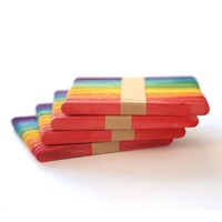 Wholesale Colorful Popsicle Sticks Christmas Crafts Wood Craft Sticks