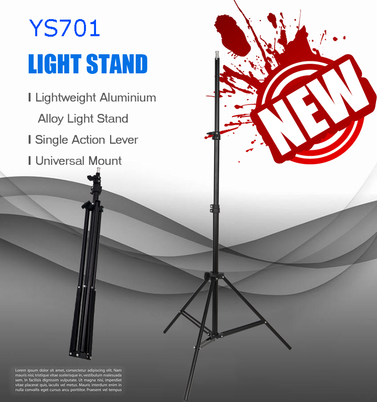 Made in China superior quality aluminium pro heavy duty 2m light stand