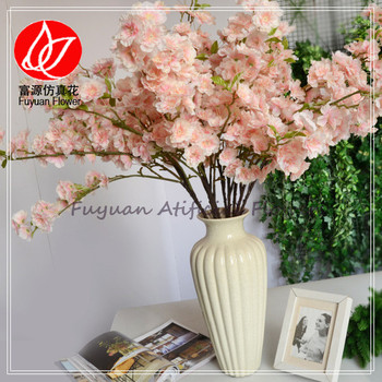Wholesale long stem artificial coral silk flowers cherry blossom wholesale long stem artificial coral silk flowers cherry blossom branch table hall wedding decorating flowers 150674 mightylinksfo