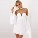 Sexy Women Off shoulder Bodycon White Women Dress
