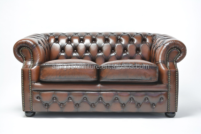Luxurious Handmade Curved Leather Sofa