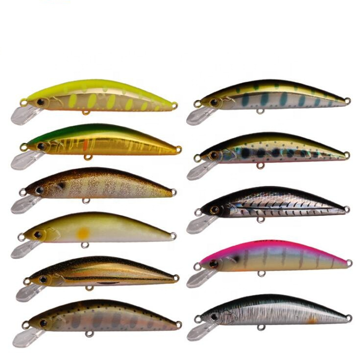 Captain's tack New Arrival Wholesale /5g Sinking Bass Fishing Wobbler Minnow Lure Hard Bait, Various colors