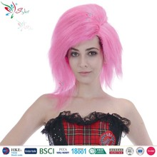 Styler Brand synthetic party colorful long pink and purple hair china sex woman wig