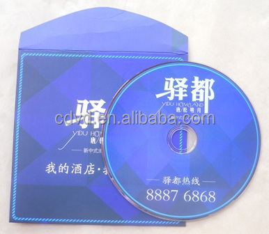 Disc packaging includes eco-friendly CD and DVD cardboard sleeve