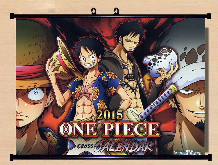 Hot Japan Anime One Piece Cool Luffy & Law Home Decor Poster Wall Scroll 40*60CM