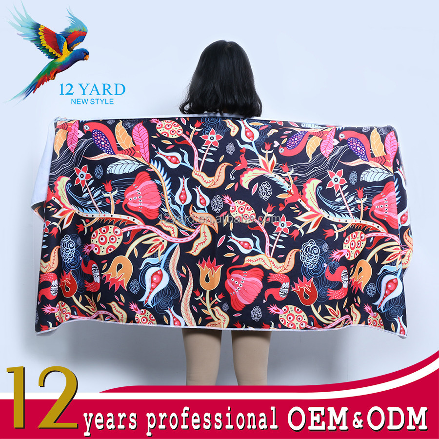 Sublimation craft summer of abstract cartoon 320 grams per square meter microfiber towel