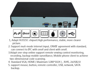 Wireless IP Camera NVR Cheap 4CH NVR