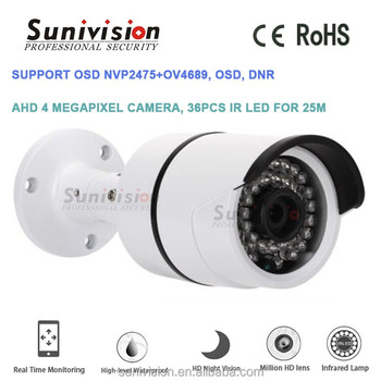 2017 New home security white metal camera housing 4 megapixel 36pcs IR LEDs ahd cctv camera