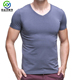 OEM custom high quality men's comfortable bamboo t shirt undershirt wholesale