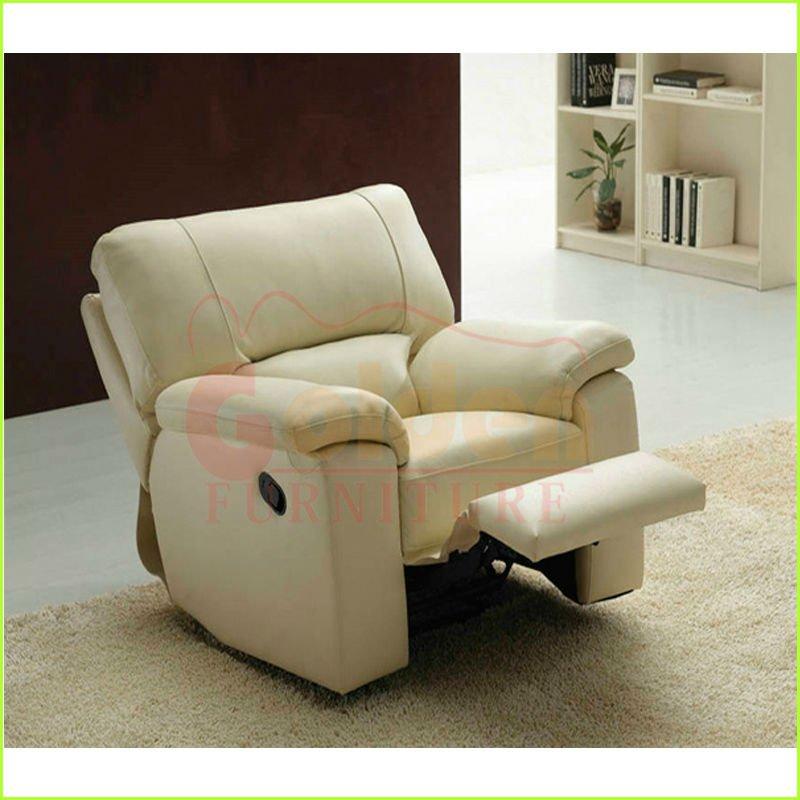 De cuero moderno sof reclinable silla sof monoplaza for Sofa cama monoplaza