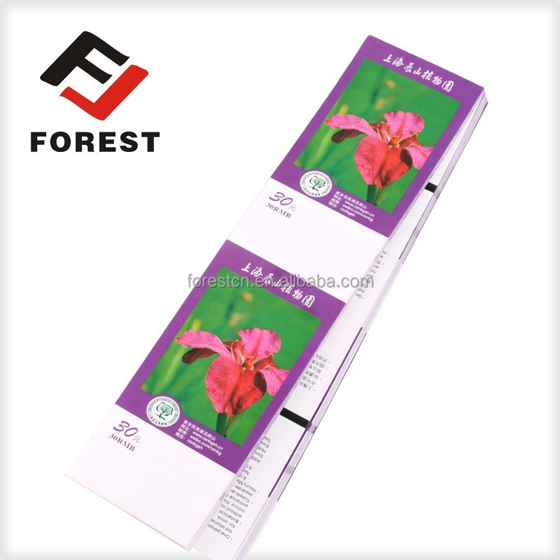 Factory supplies custom printing visiting botanical garden tickets