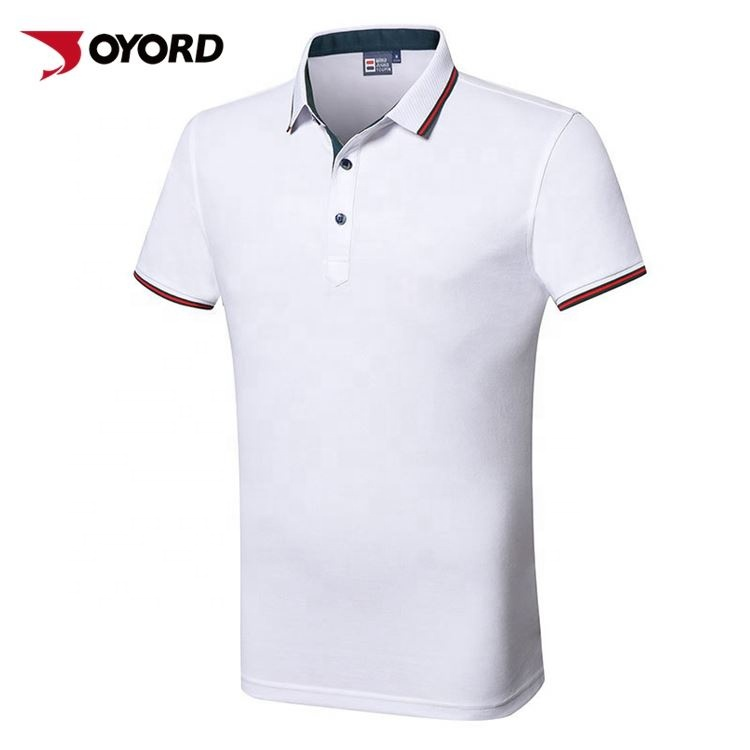 Anti-Pilling Krimpen Rimpel Originele Heren Oem Kleding Polo T Shirts