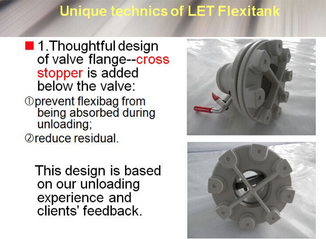 Flexitank for refined sunflower oil packing and transportation