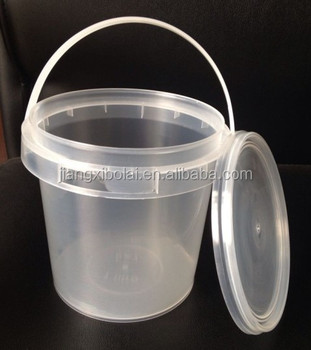 Clear Small Food Grade Pp 15l Plastic Yogurt Bucket With Lid And