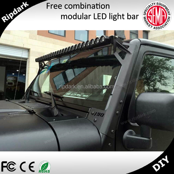 Ripdark Patented Product High Quality DIY 4x4 Accessories 50inch 250w 4D  Amber Led Offroad Light Bar