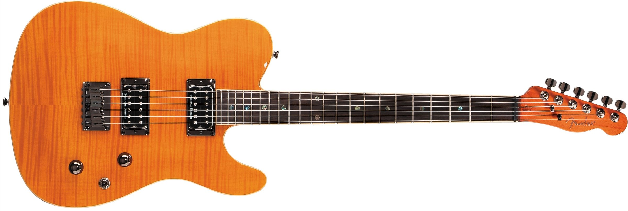 Fender Special Edition Custom Telecaster FMT HH Electric Guitar, Amber, Rosewood Fretboard