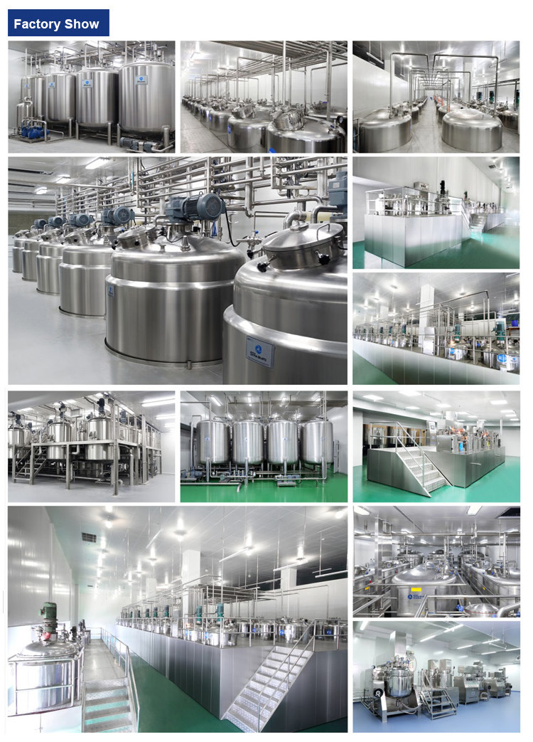CE GMP Certificated High Shear Homogenizer Vacuum Emulsifying Mixer for Cream, Ointment Lotion