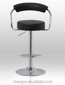 new design black PU leather bar stool wholesale