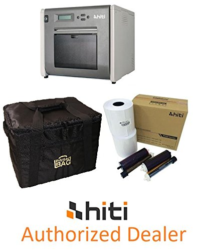 "HiTi P525L Photo Printer - BUNDLE - with a box of HiTi 4x6"" media kit paper & ribbon (1.000 prints) and our exclusive ""PRINTERBAG"" brand carrying case (handbag version)."