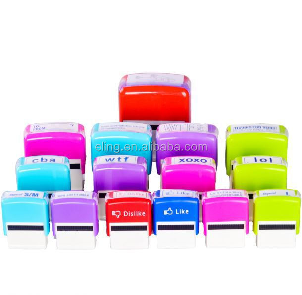 Plastic Self inking Stamp finger print stamp pad
