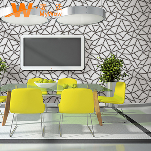 A21-26P18 China supplier wholesale home decoration 3d pvc wall paper