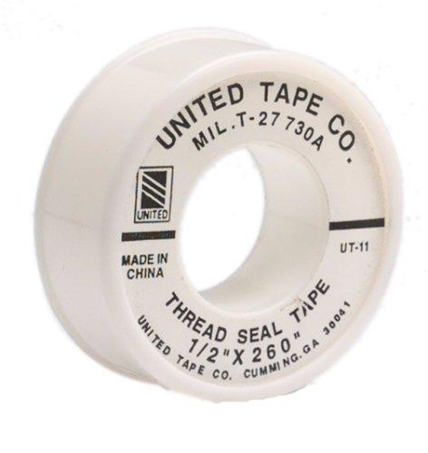 "United Tape UT-11 1/2"" x 260"" Teflon Thread Sealing Tape"